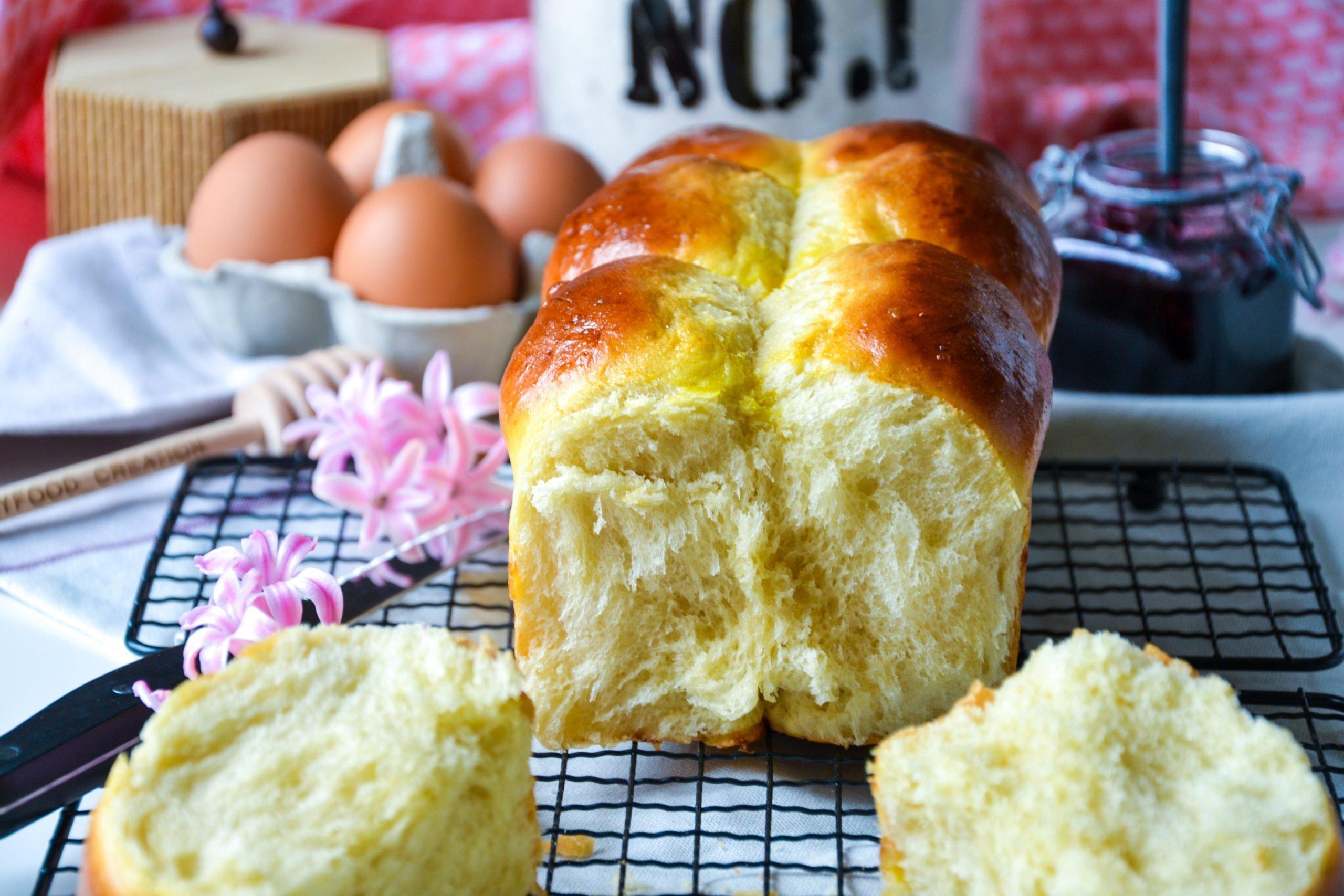 Brioche sans sucre raffiné ni beurre