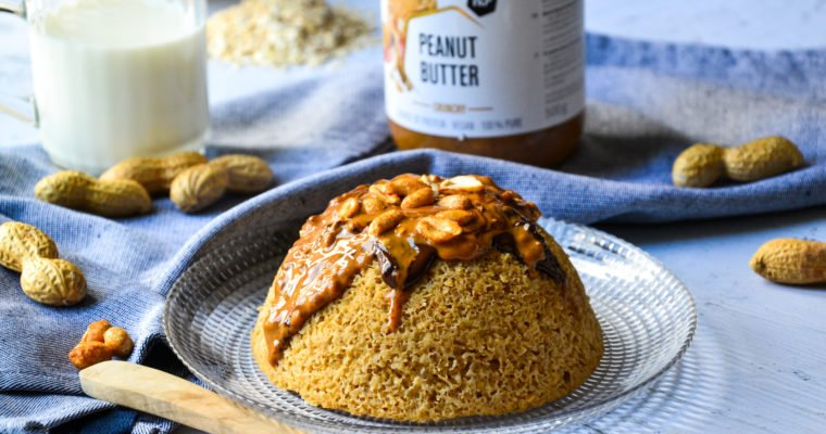 Bowlcake façon snikers prêt en moins de 10 minutes