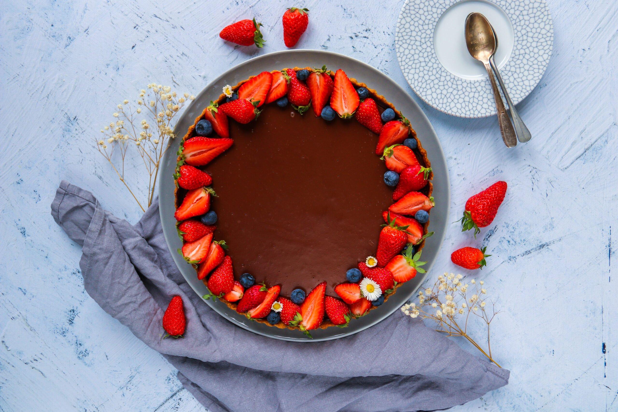 Tarte au chocolat sans beurre