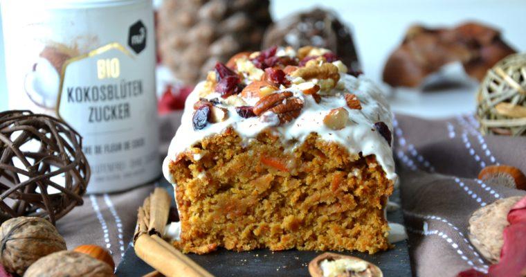 Carrot cake healthy, sans sucre raffiné ni MG ajoutées