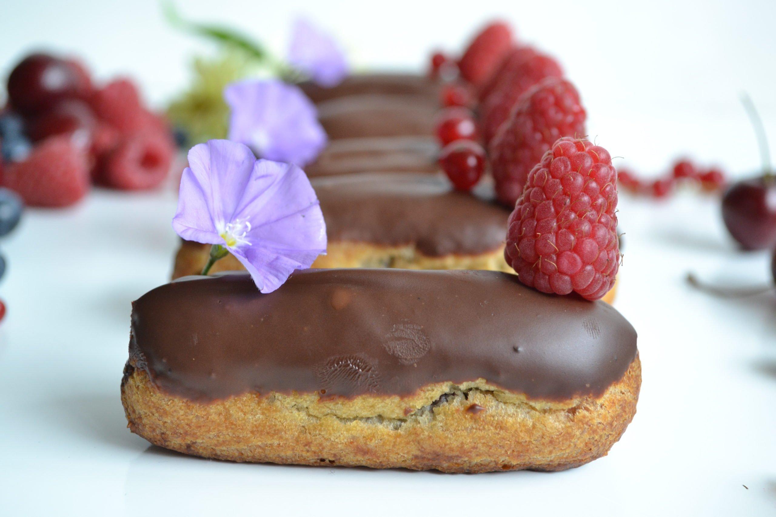 Eclairs au chocolat sans beurre ni sucres ajoutés