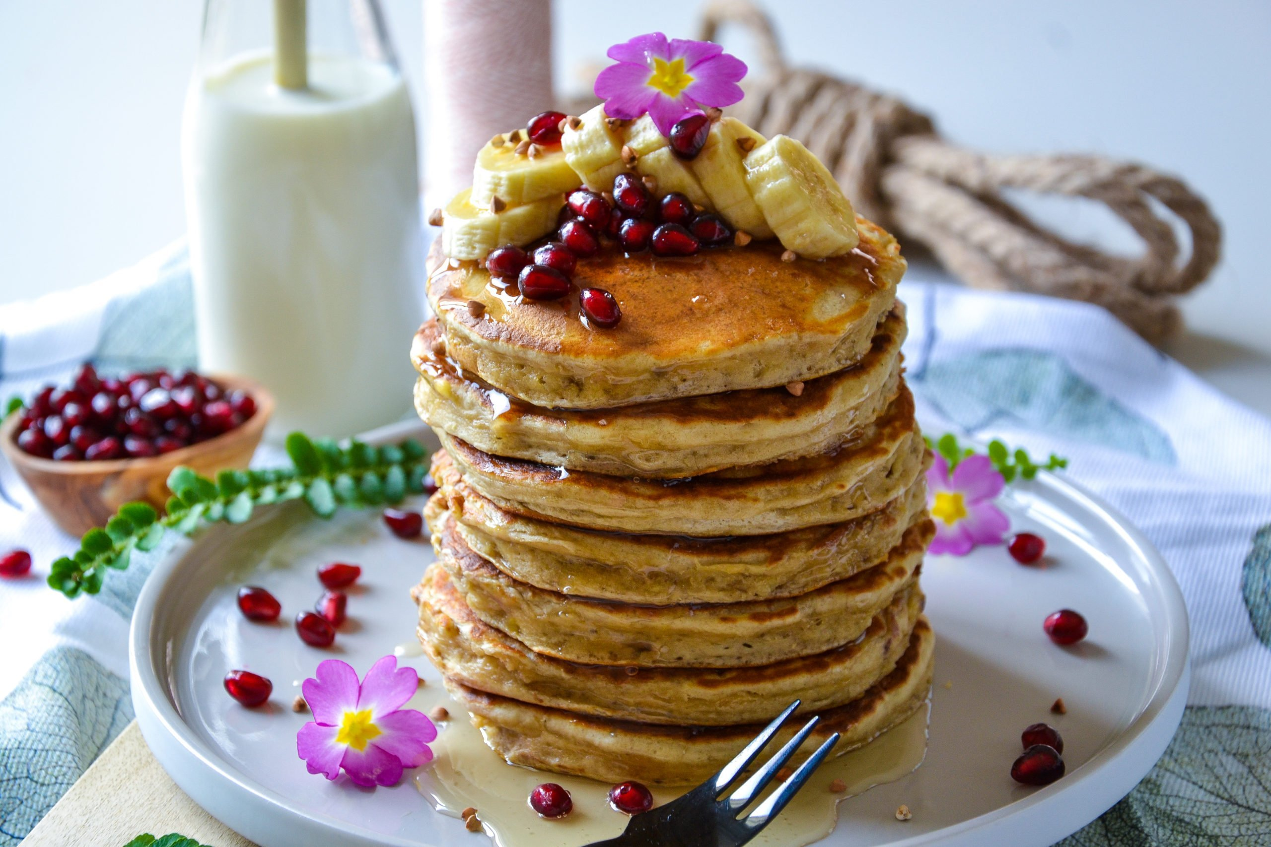Pancakes banane sans sucres ni matières grasses ajoutés