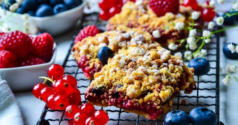 Crumble pie aux fruits rouges