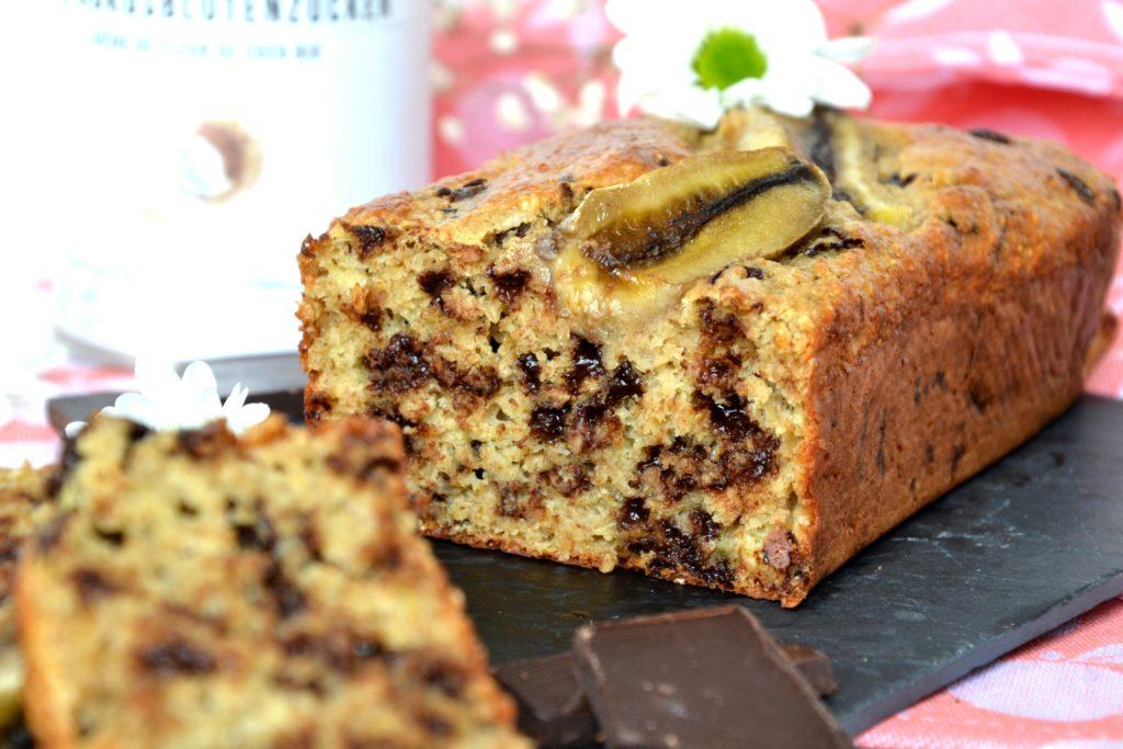 Bananabread aux pépites de chocoat sans sucre ni matières grasses -  healthyfoocreation