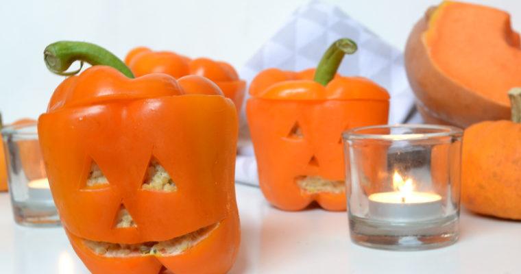Poivrons farcis spécial halloween