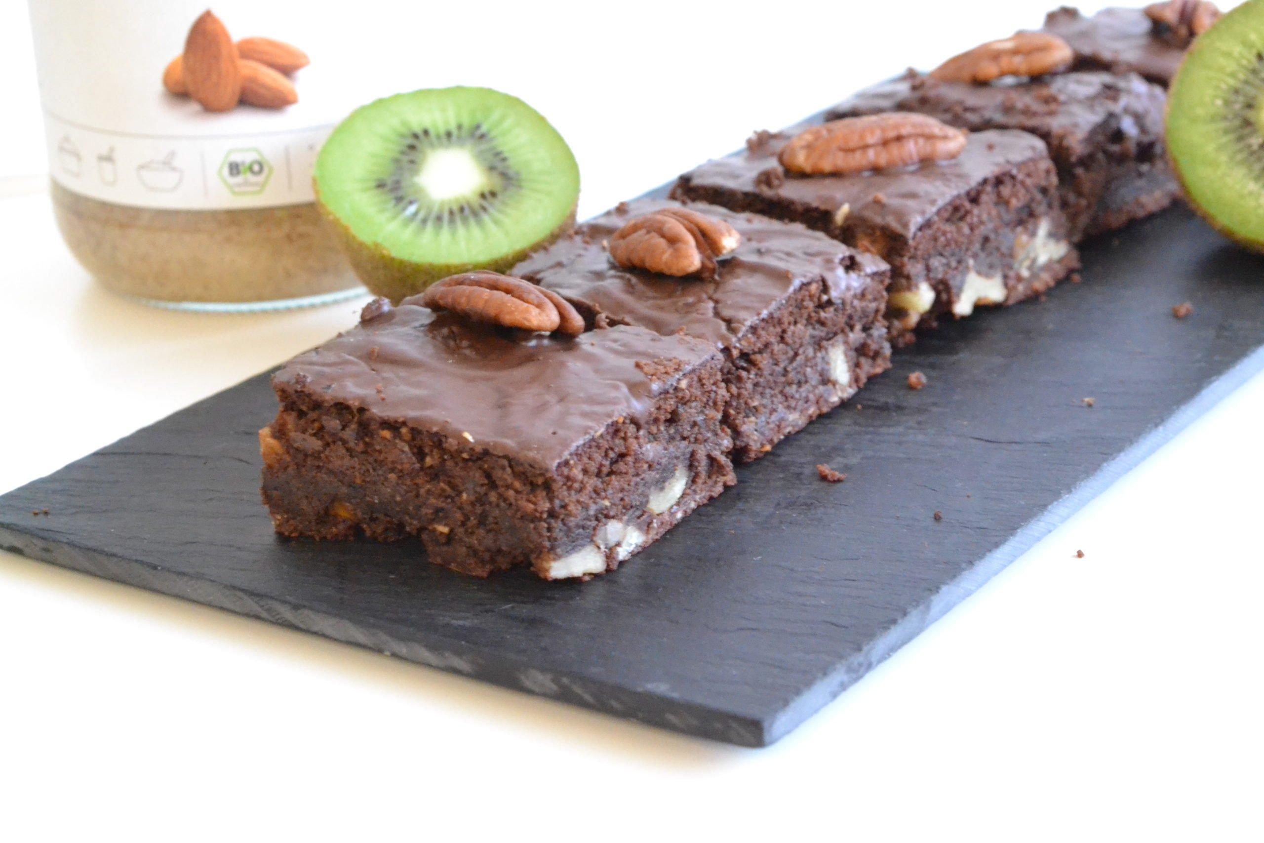 Brownie au chocolat et à la purée d'amandes