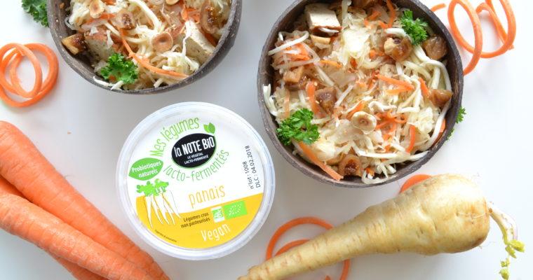 LA NOTE BIO : Légumes lacto fermentés – Salade de chou-panais à l'asiatique