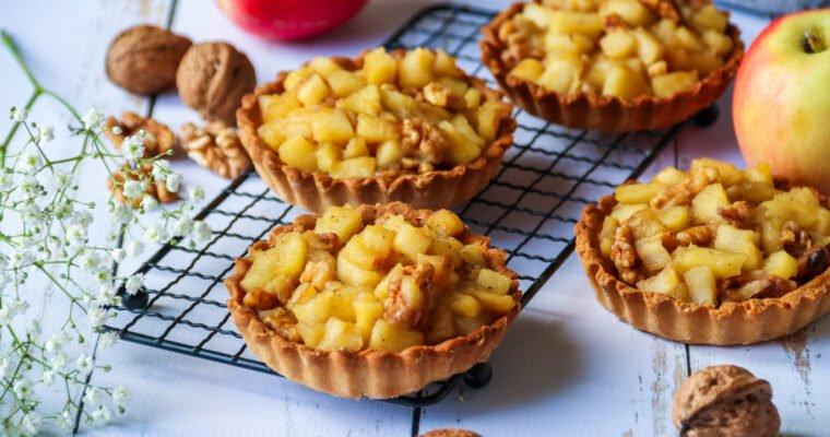 Tartelettes fines pommes & noix