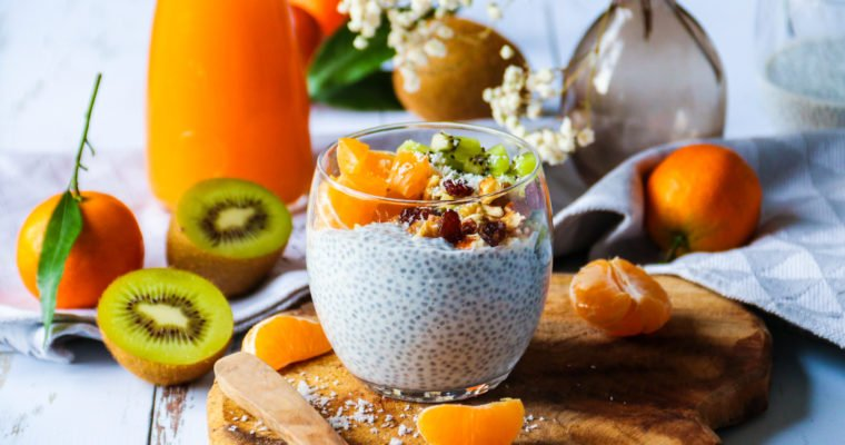 Pudding de graines de chia et fruits