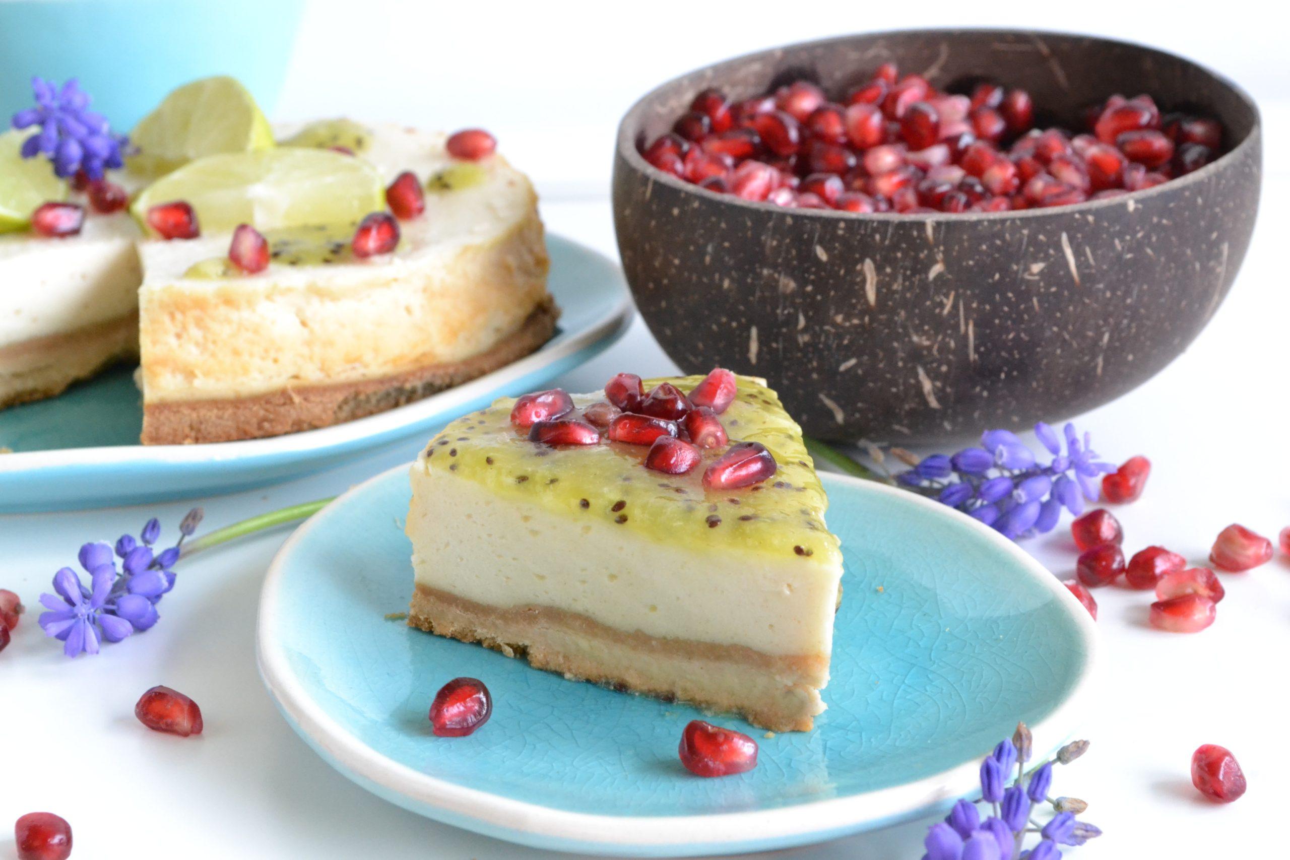 Cheese cake et son coulis kiwi