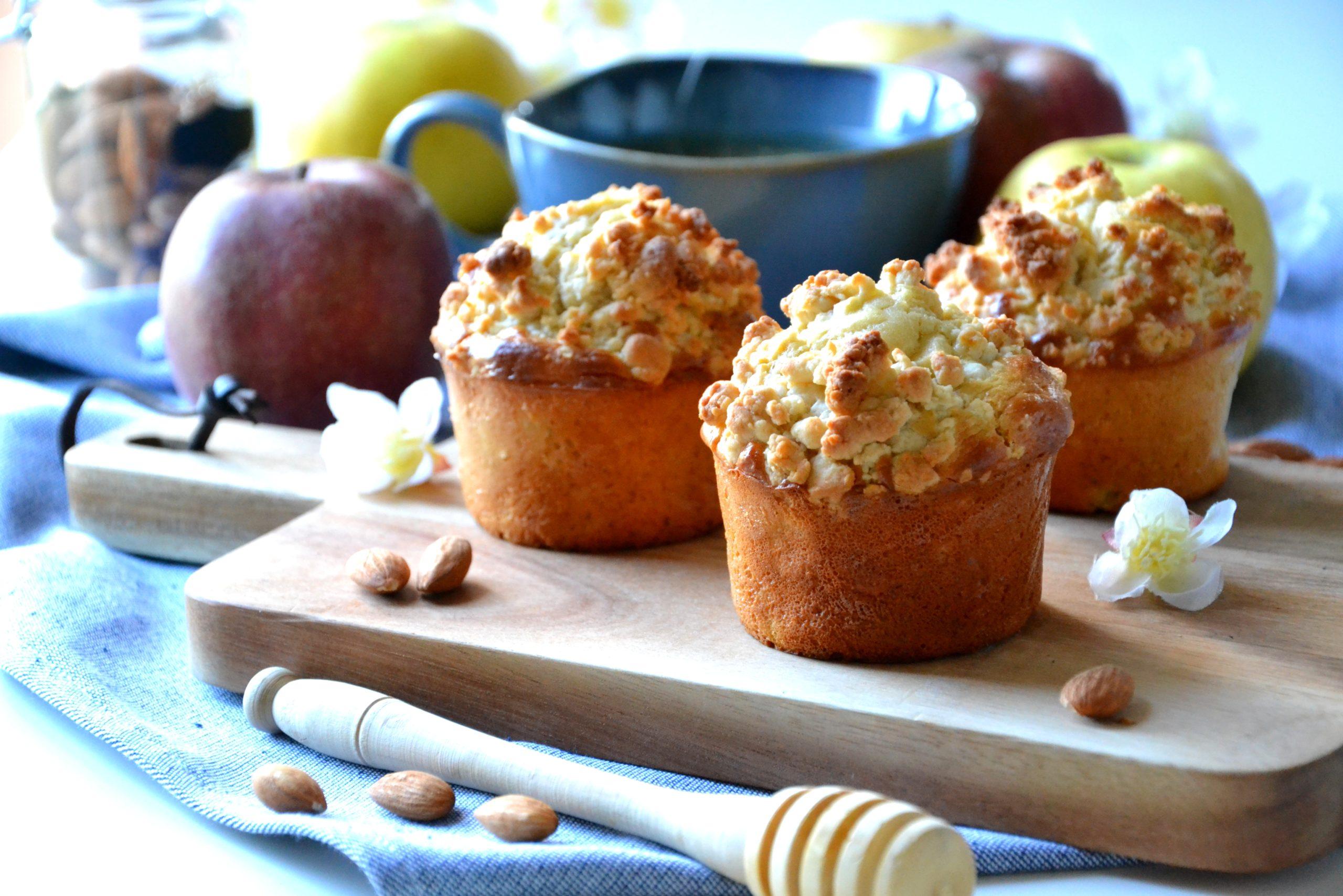 Muffins aux pommes façon crumble