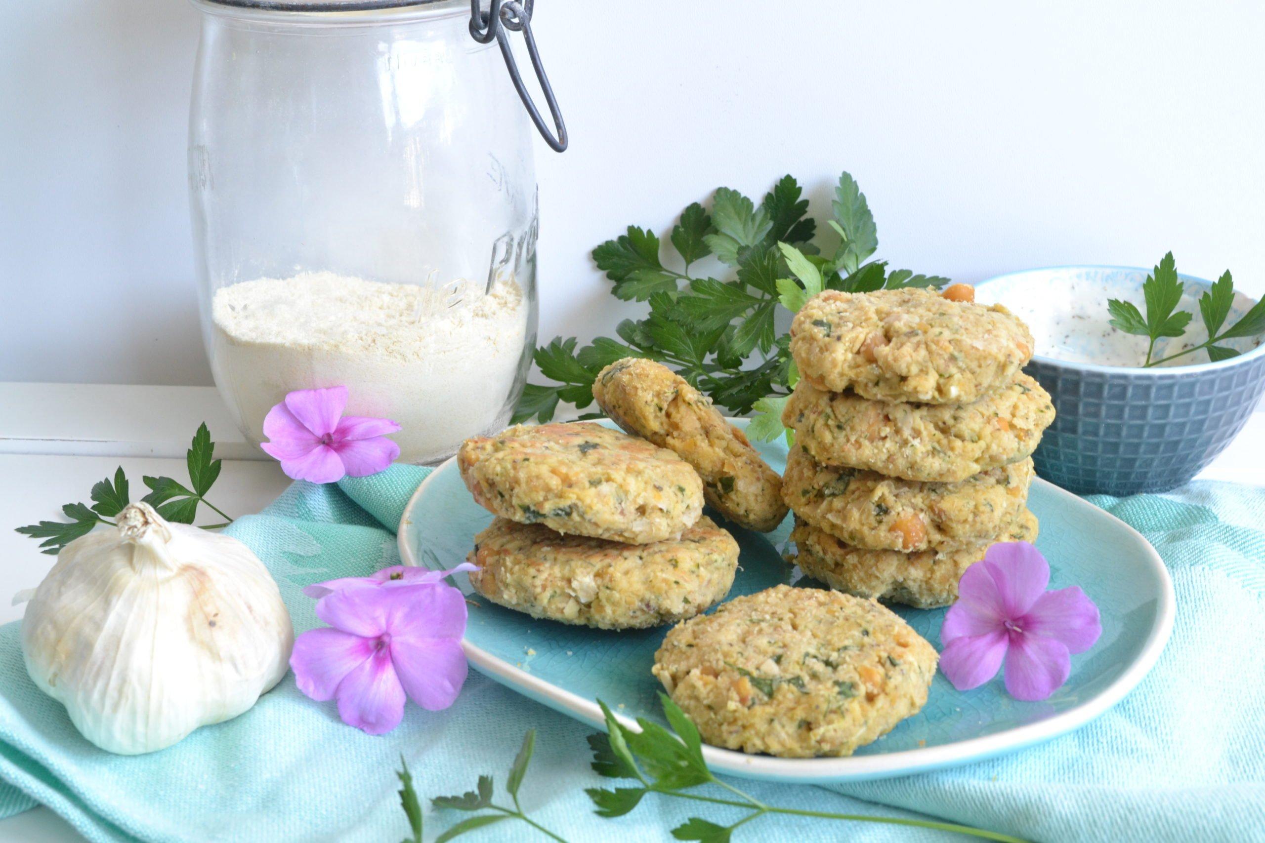 Falafels à la courgette, ail farine de pois chiches