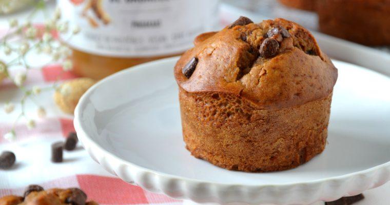 Muffins au peanut butter et pépites de chocolat