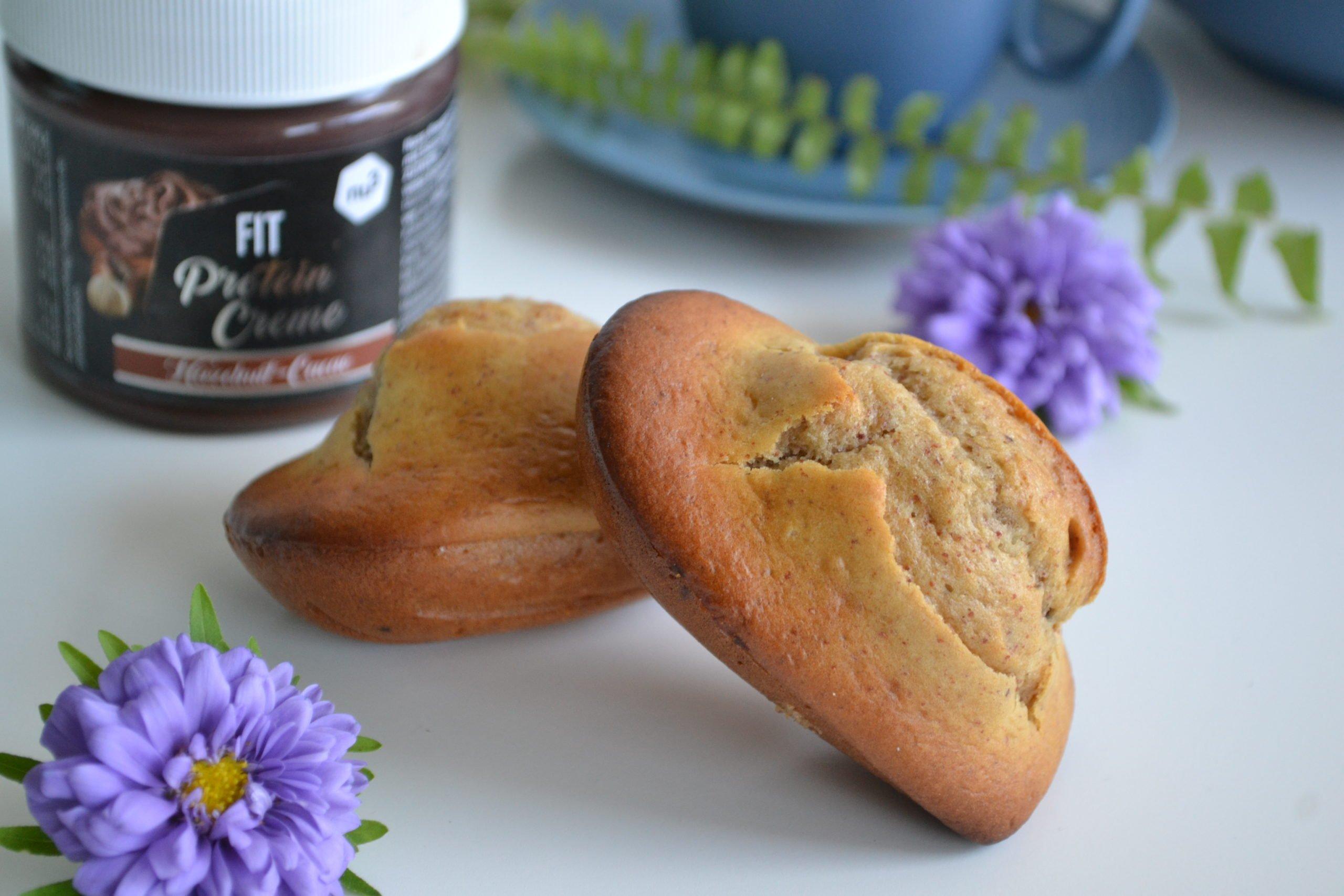 """Madeleines fourrées à la """"fit protein crème"""" nu3"""