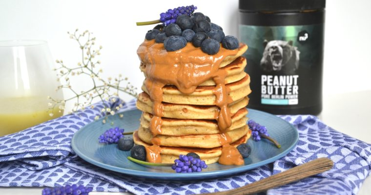 Pancakes au beurre de cacahuètes sans sucres ni matières grasses ajoutés
