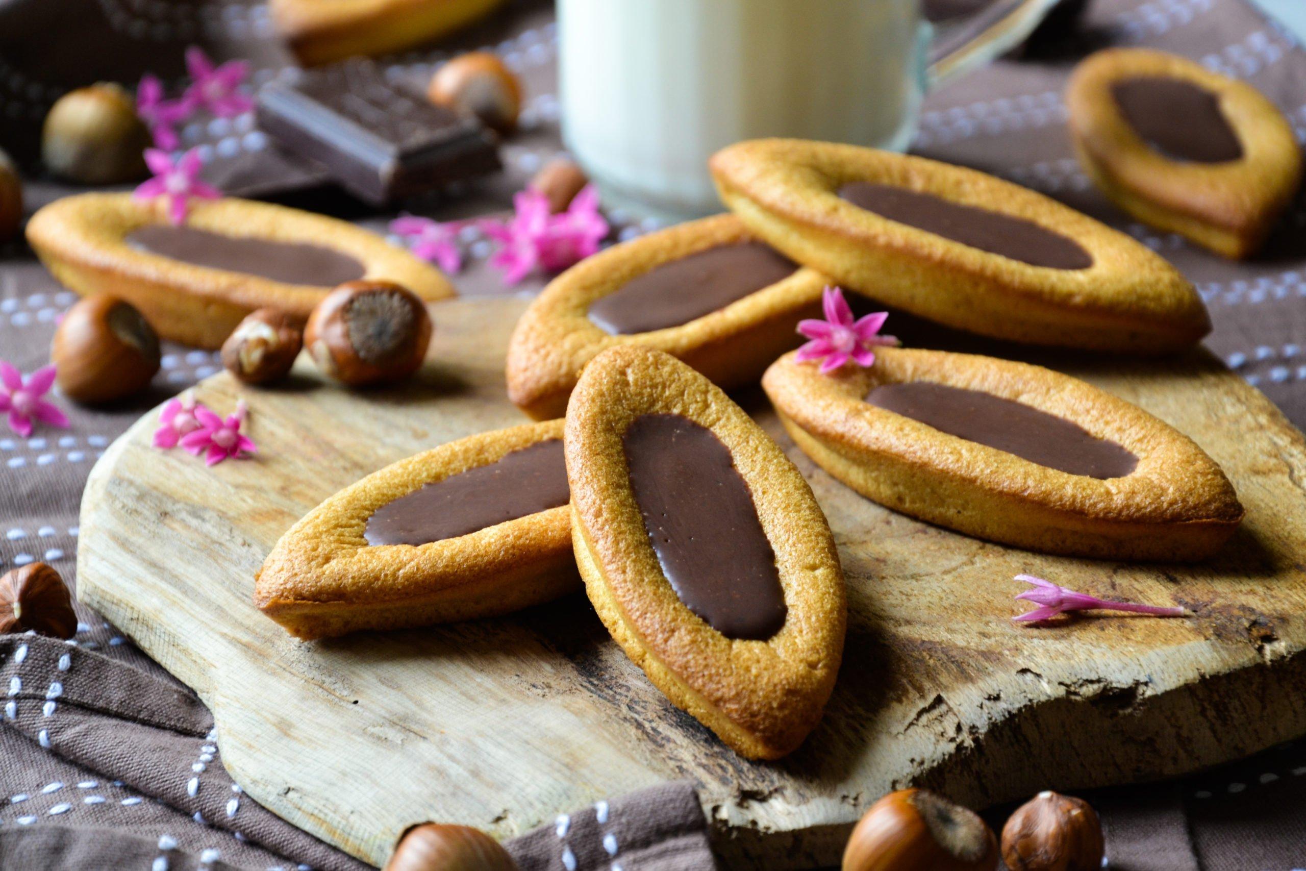 """Barquettes façon """"Lu"""" au chocolat noisettes"""