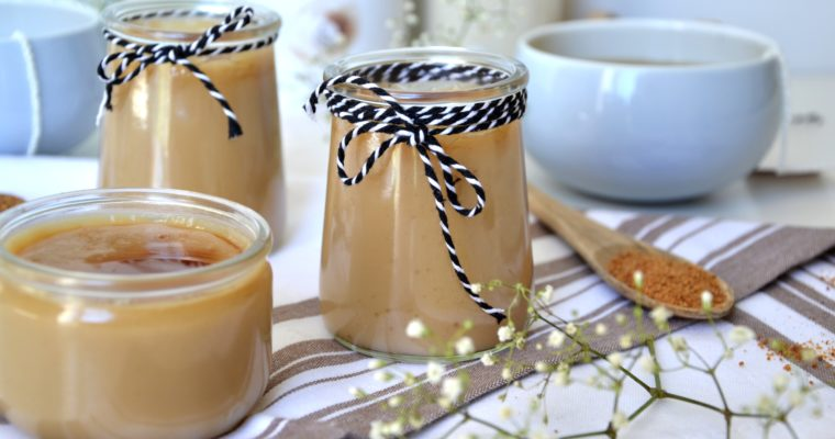 """Crèmes façon """"mont blanc"""" à la vanille et caramel"""