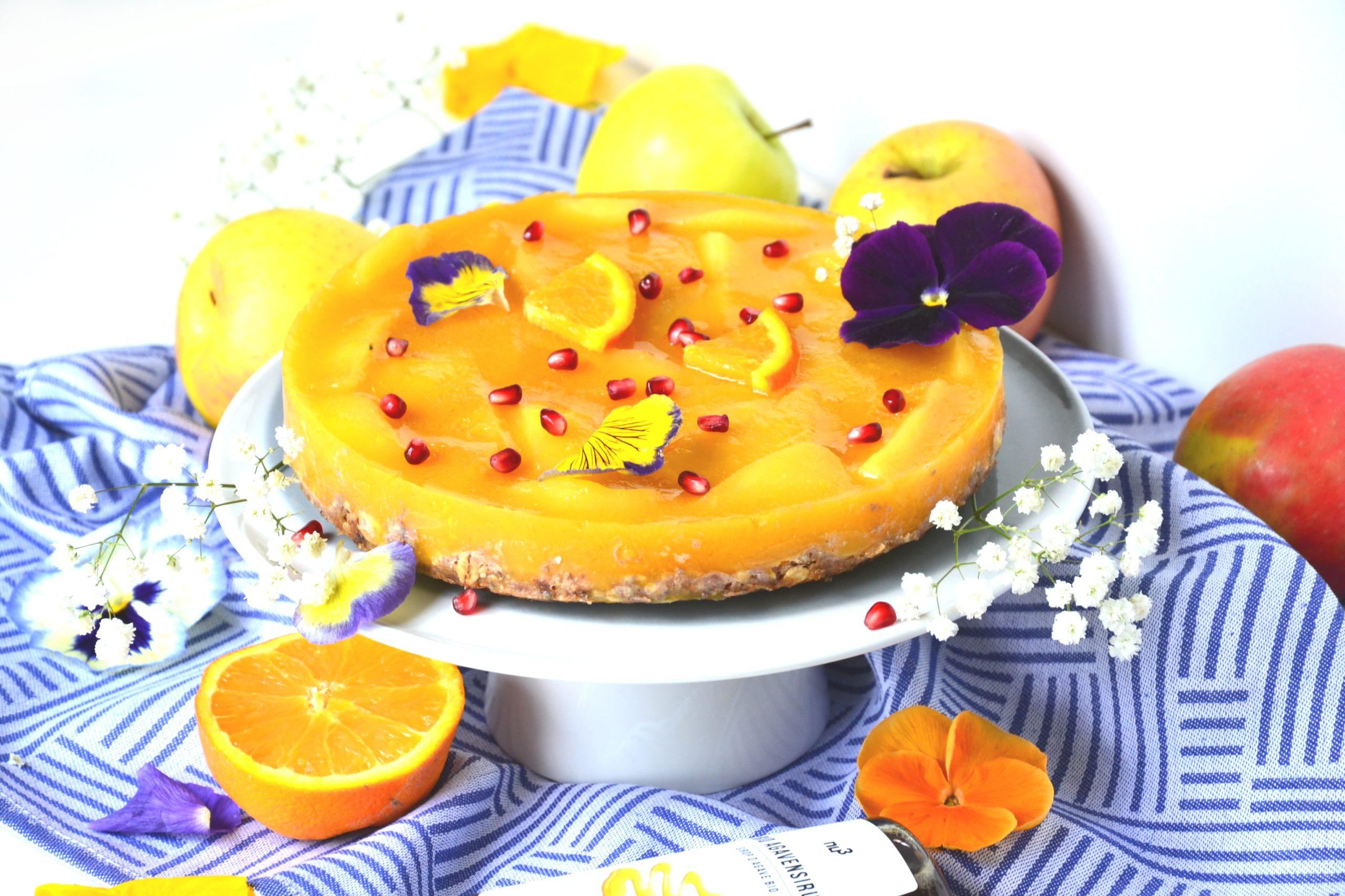Entremet pommes et oranges