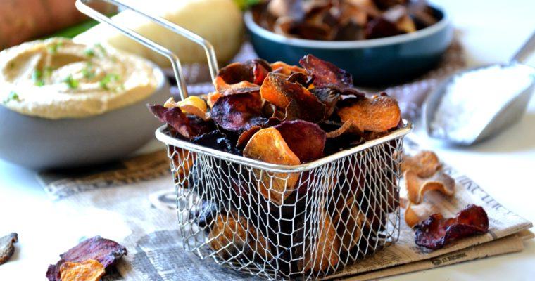 Chips de légumes maison au four