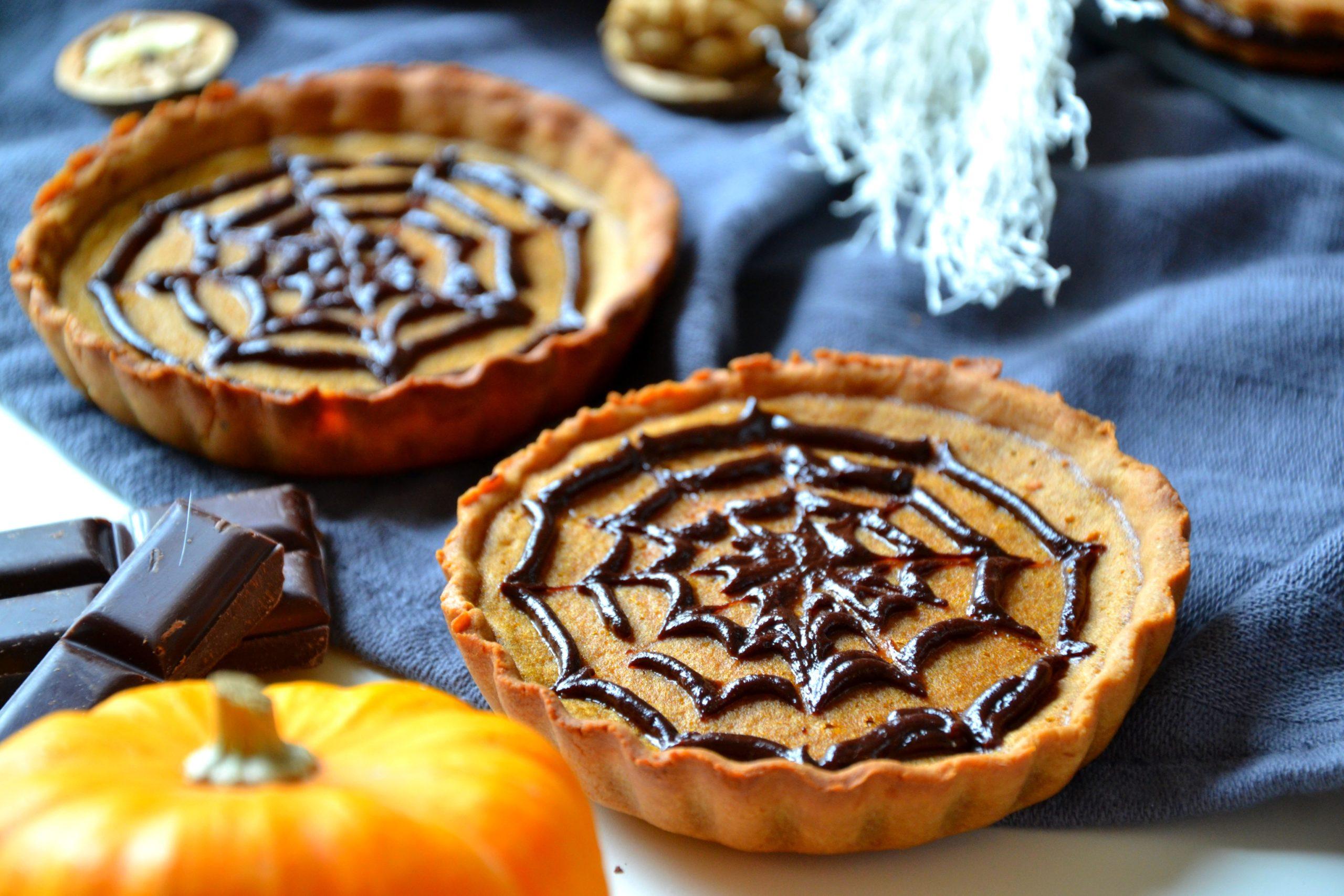 Tartelettes d'Halloween au chocolat et potiron