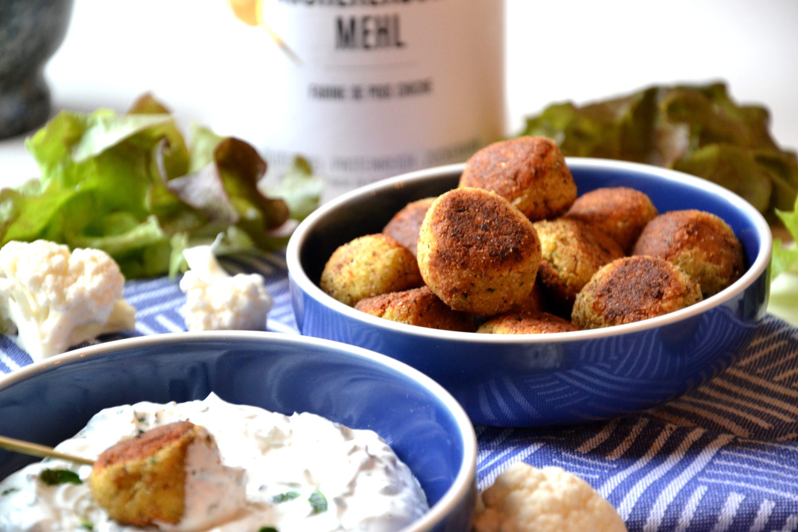 Falafels au chou-fleur et à la farine de pois-chiches