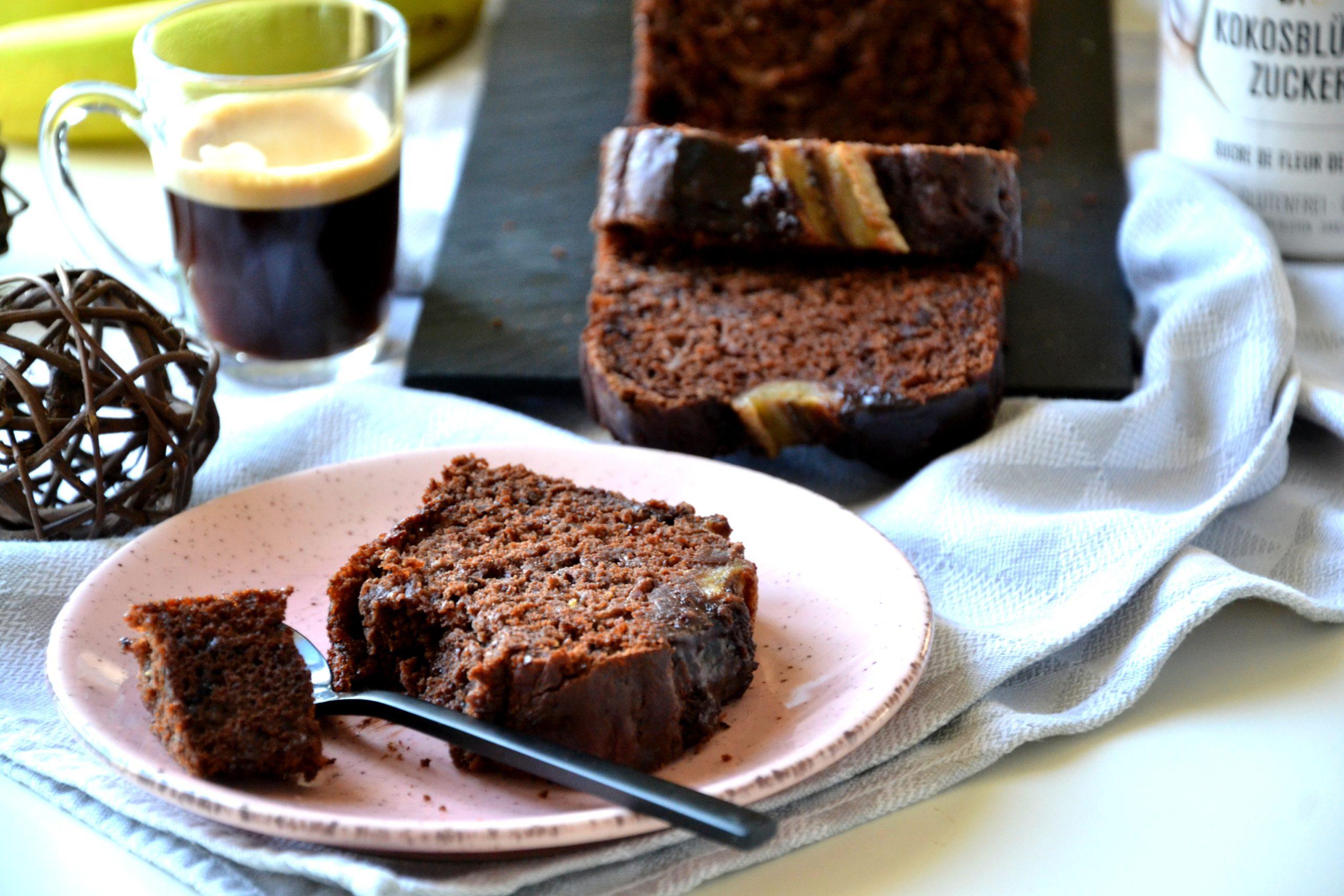Bananabread moelleux au chocolat sans sucre raffiné ni MG
