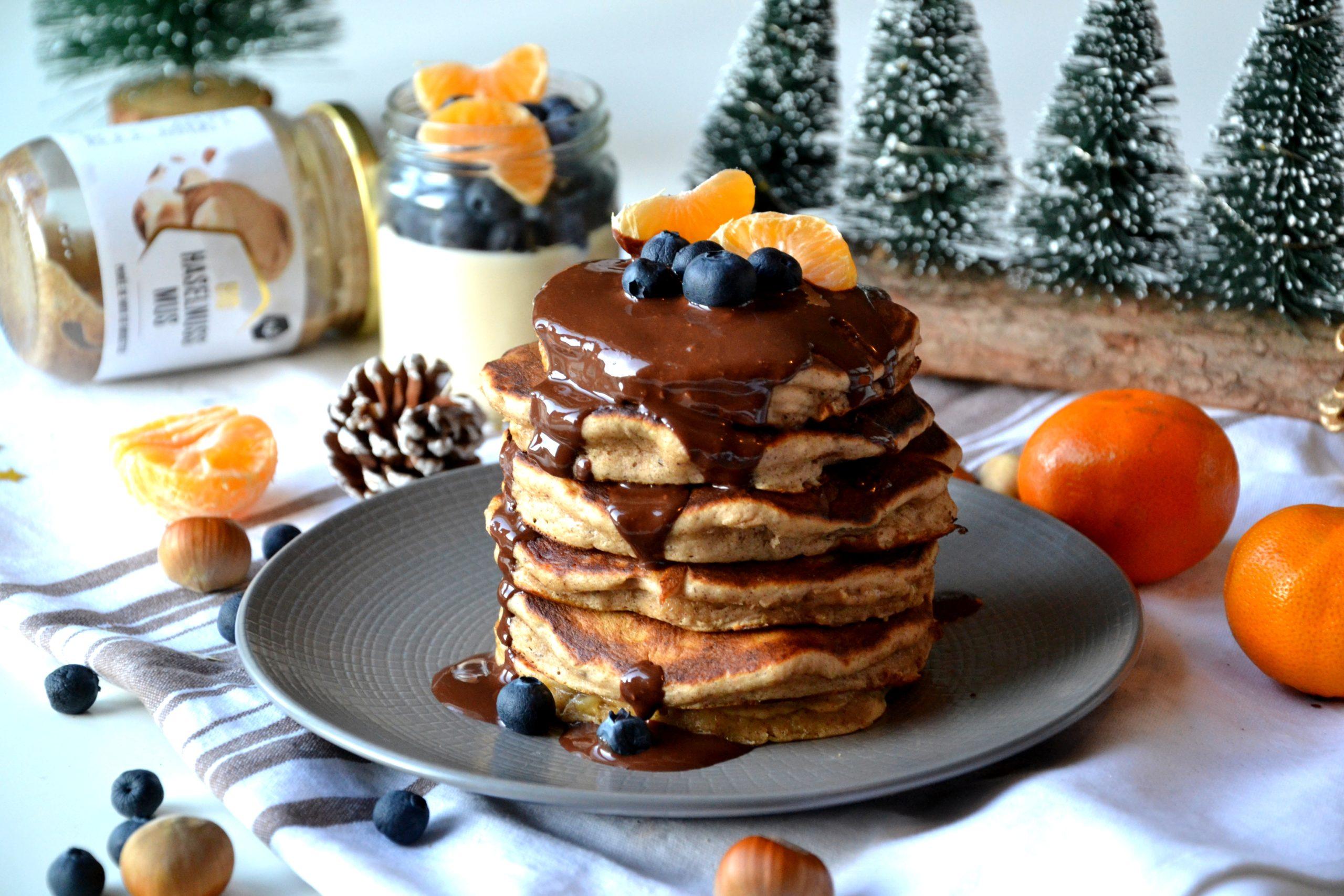 Pancakes noisettes et chocolat sans sucre raffiné