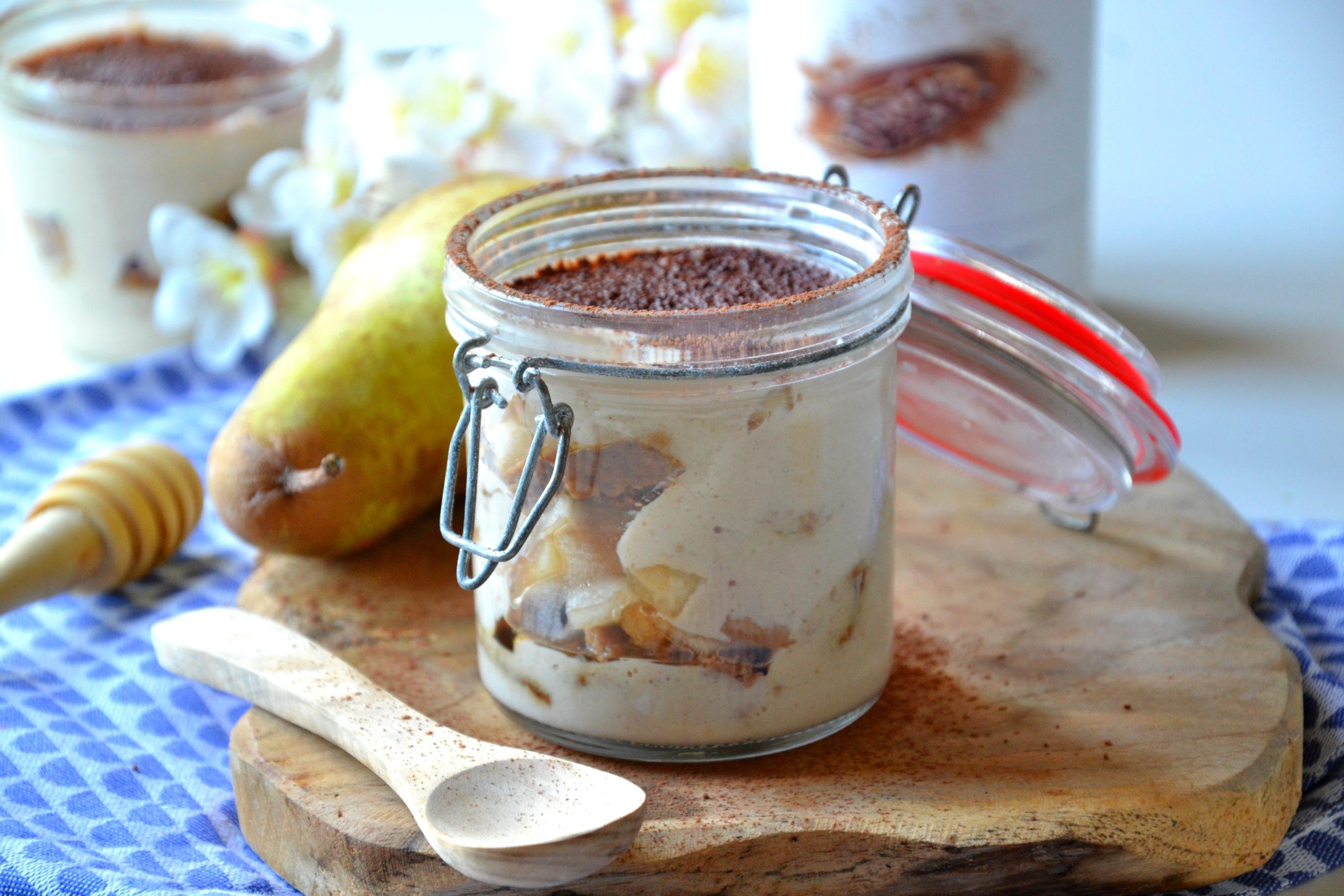 Tiramisu healthy et vegan aux poires (avec version sans café)