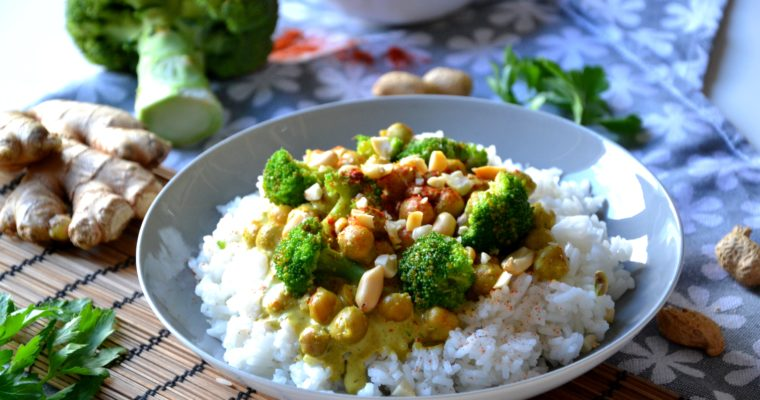 Curry de pois-chiches express végétarien