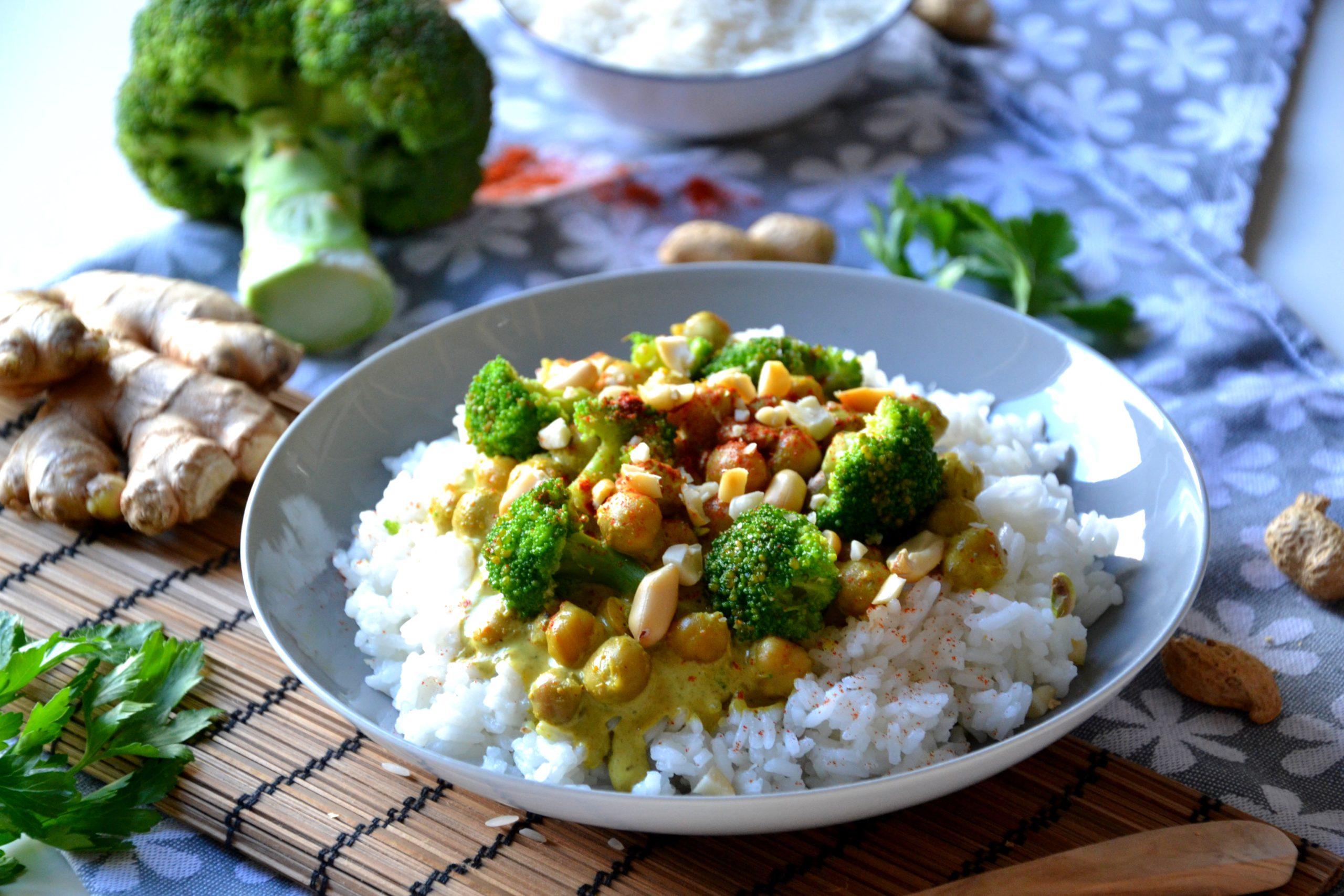 Curry de pois-chiches express végétarien