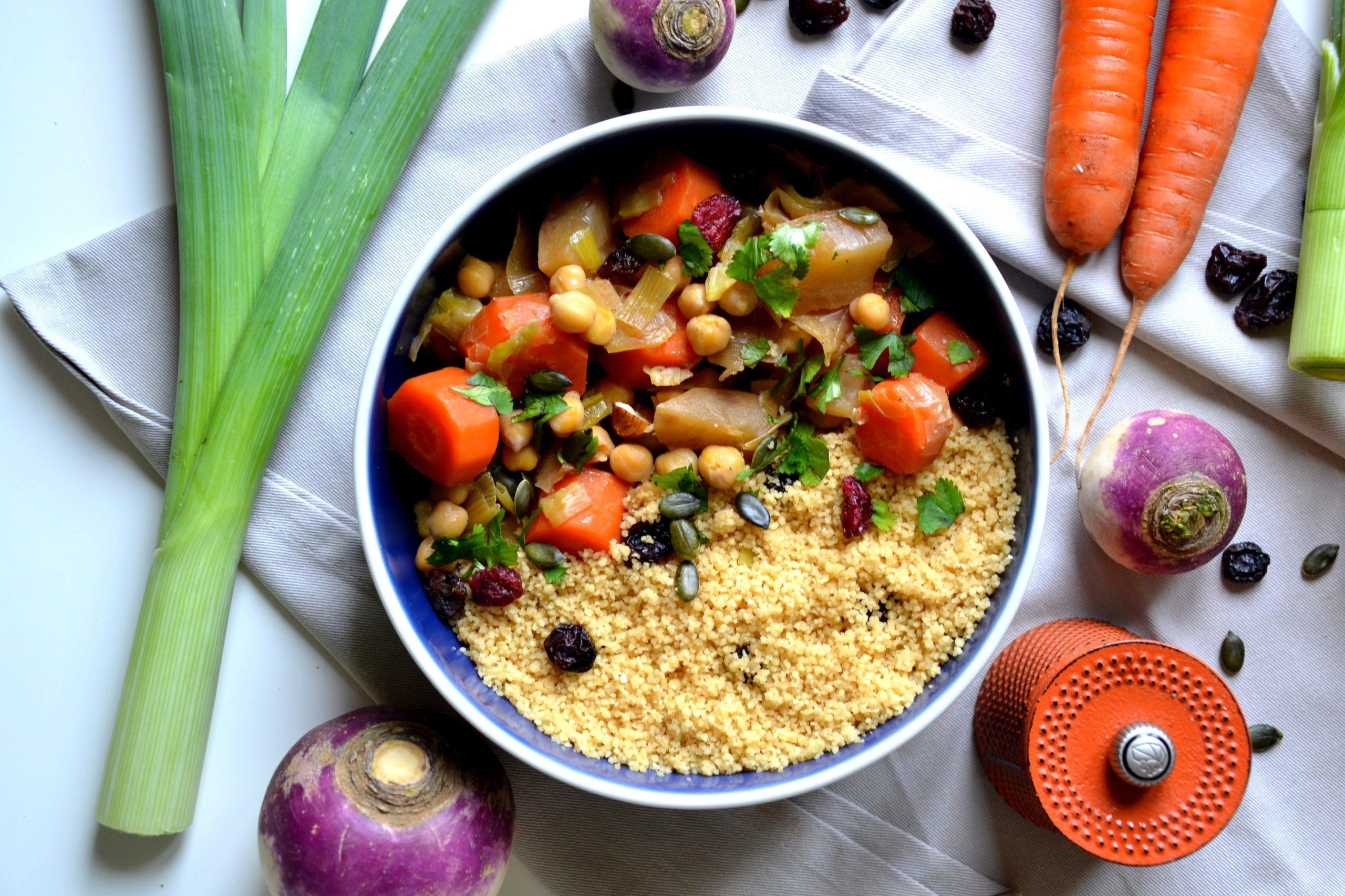 Couscous végétarien aux légumes d'hiver