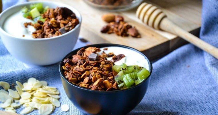 Granola healthy amandes et chocolat