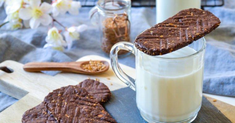 Biscuits façon Belvita au cacao, vegan