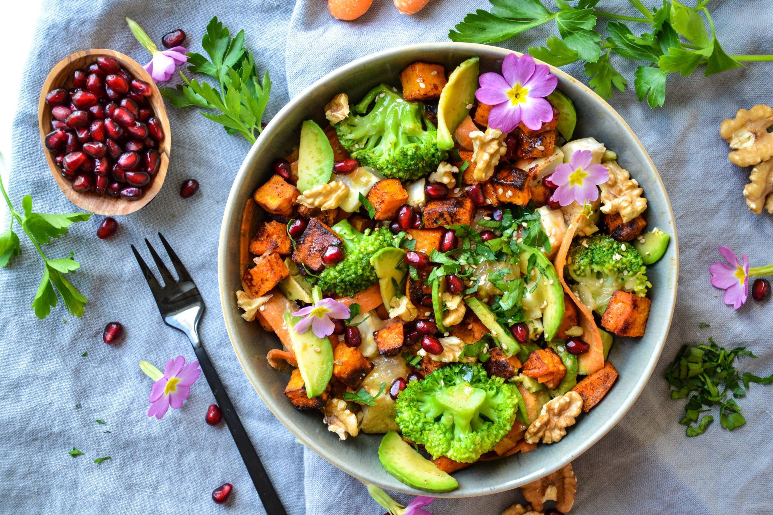 Salade de printemps végétarienne
