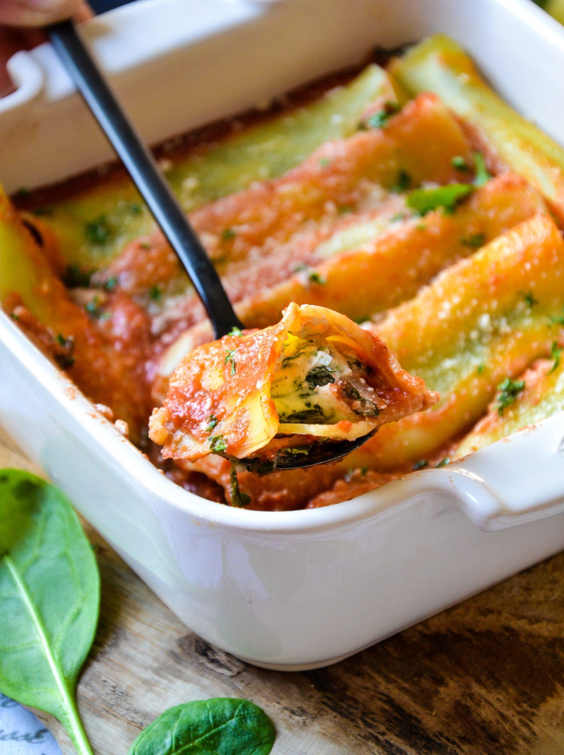 Cannellonis végétariens