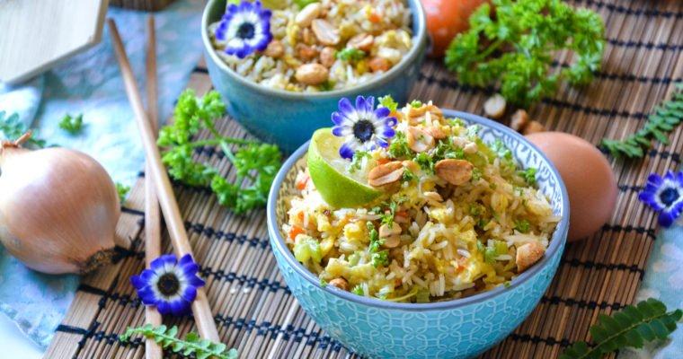 Riz sauté façon thaï végétarien