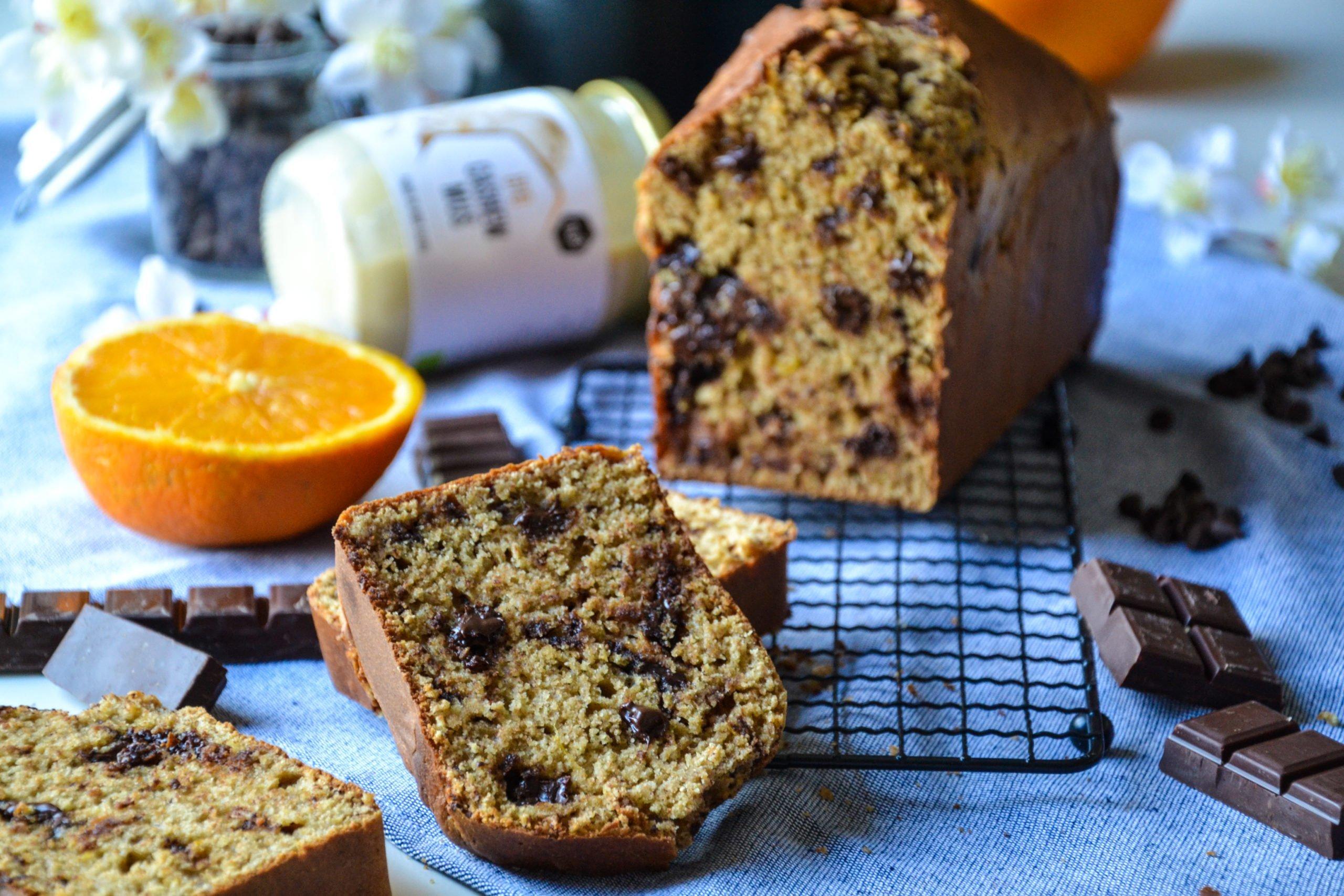 Cake moelleux orange et chocolat