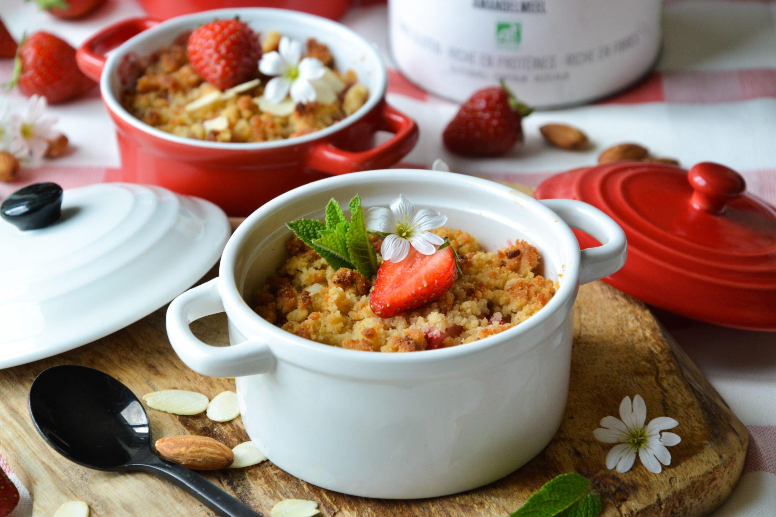 Crumble fraises et amandes