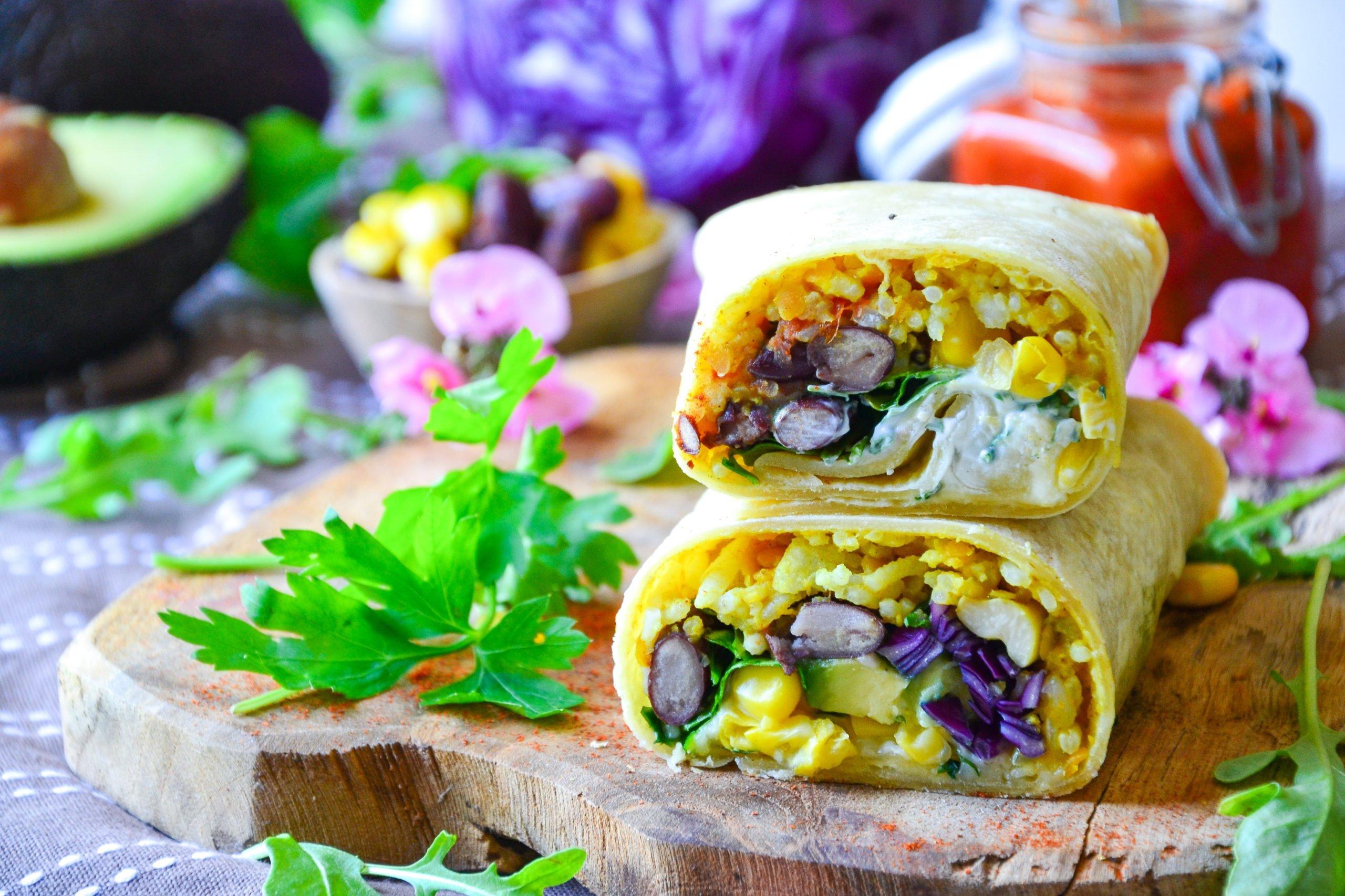 Burritos maison végétariens