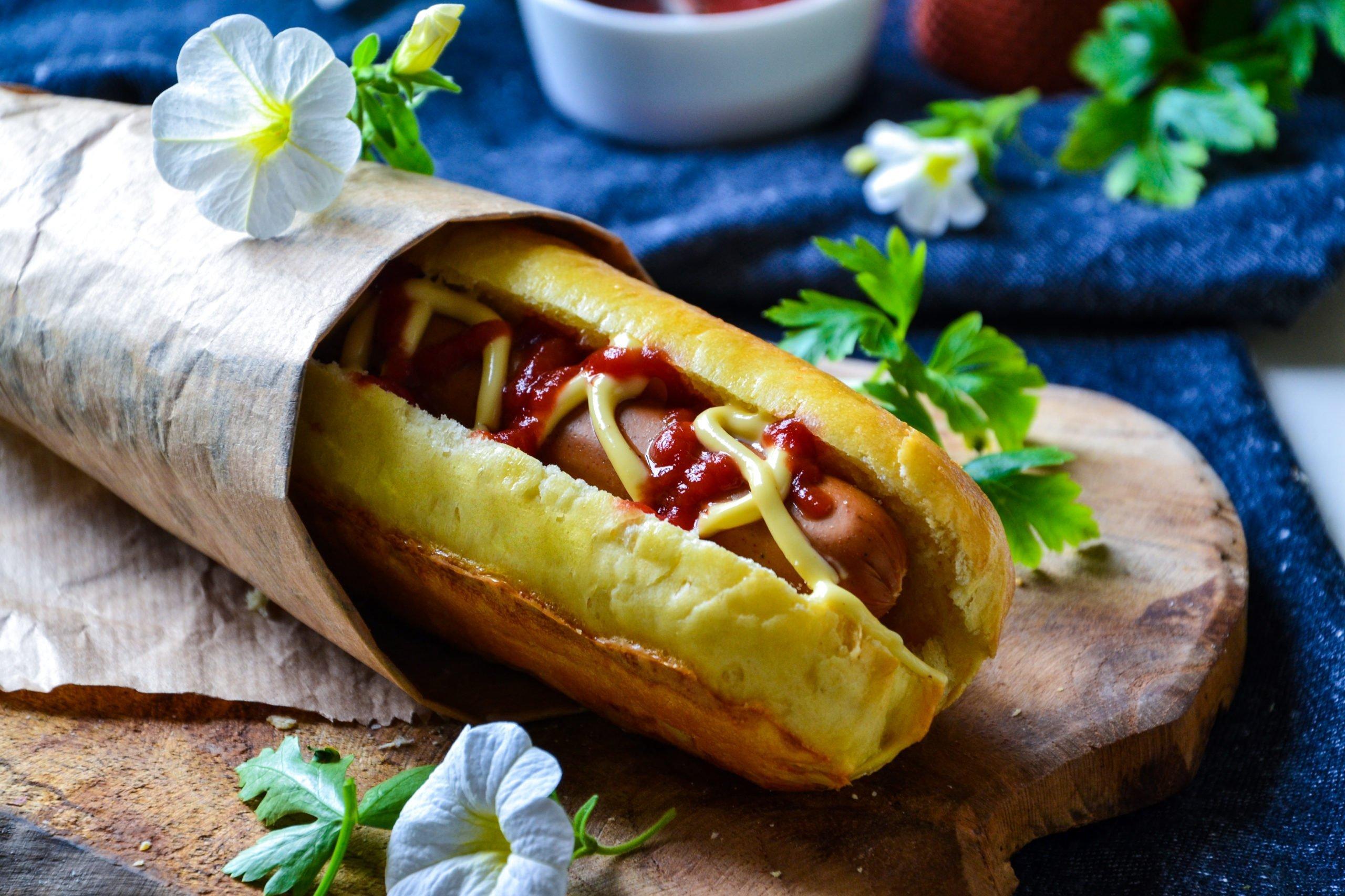 Hot dog végétarien maison