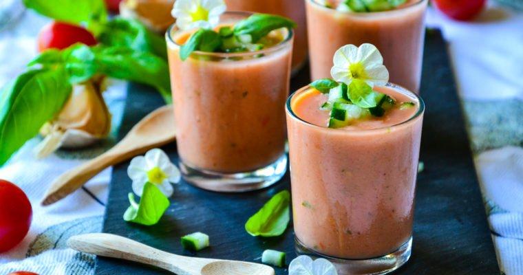Gaspacho tomates, concombre et brebis