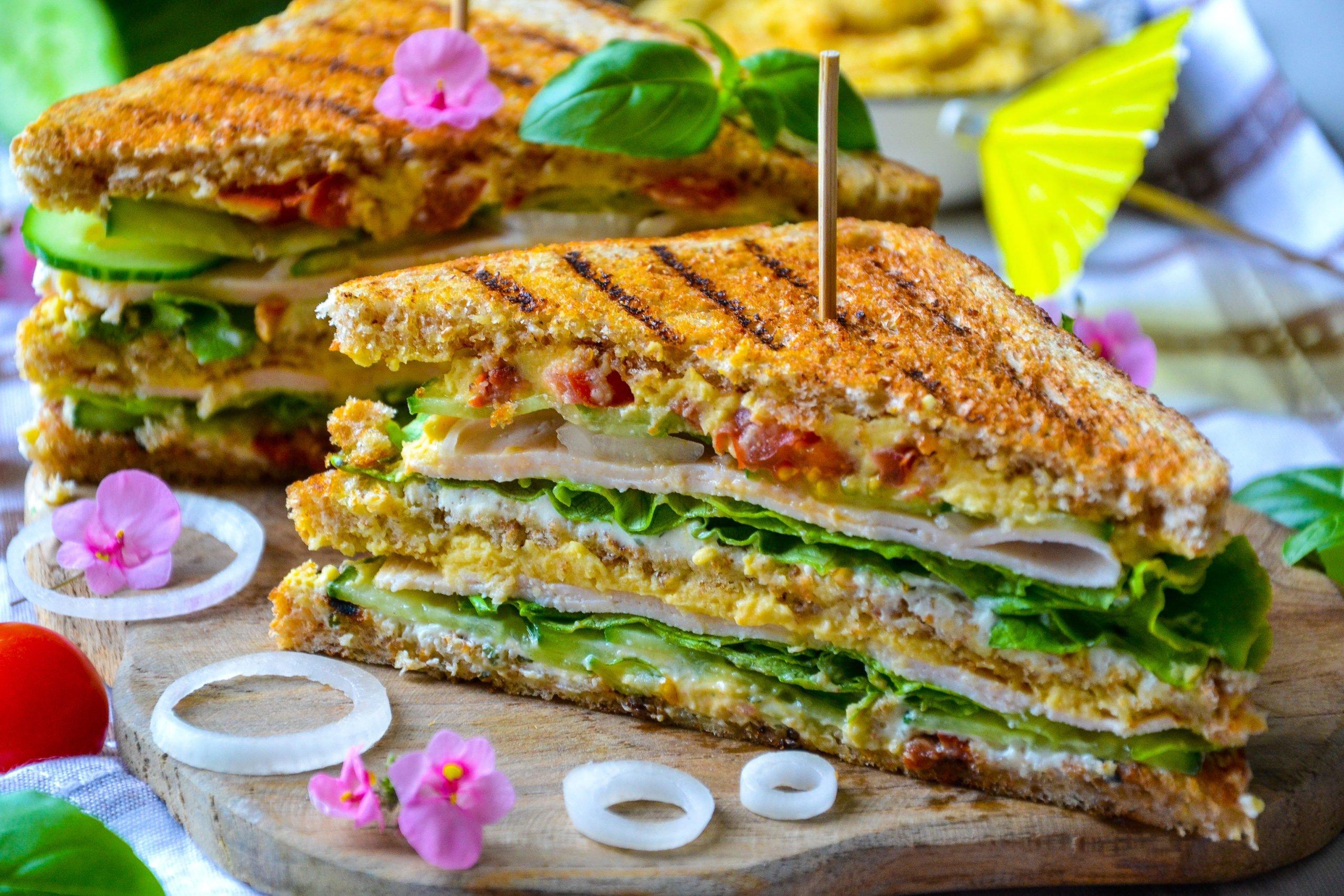 Club sandwich sain et gourmand