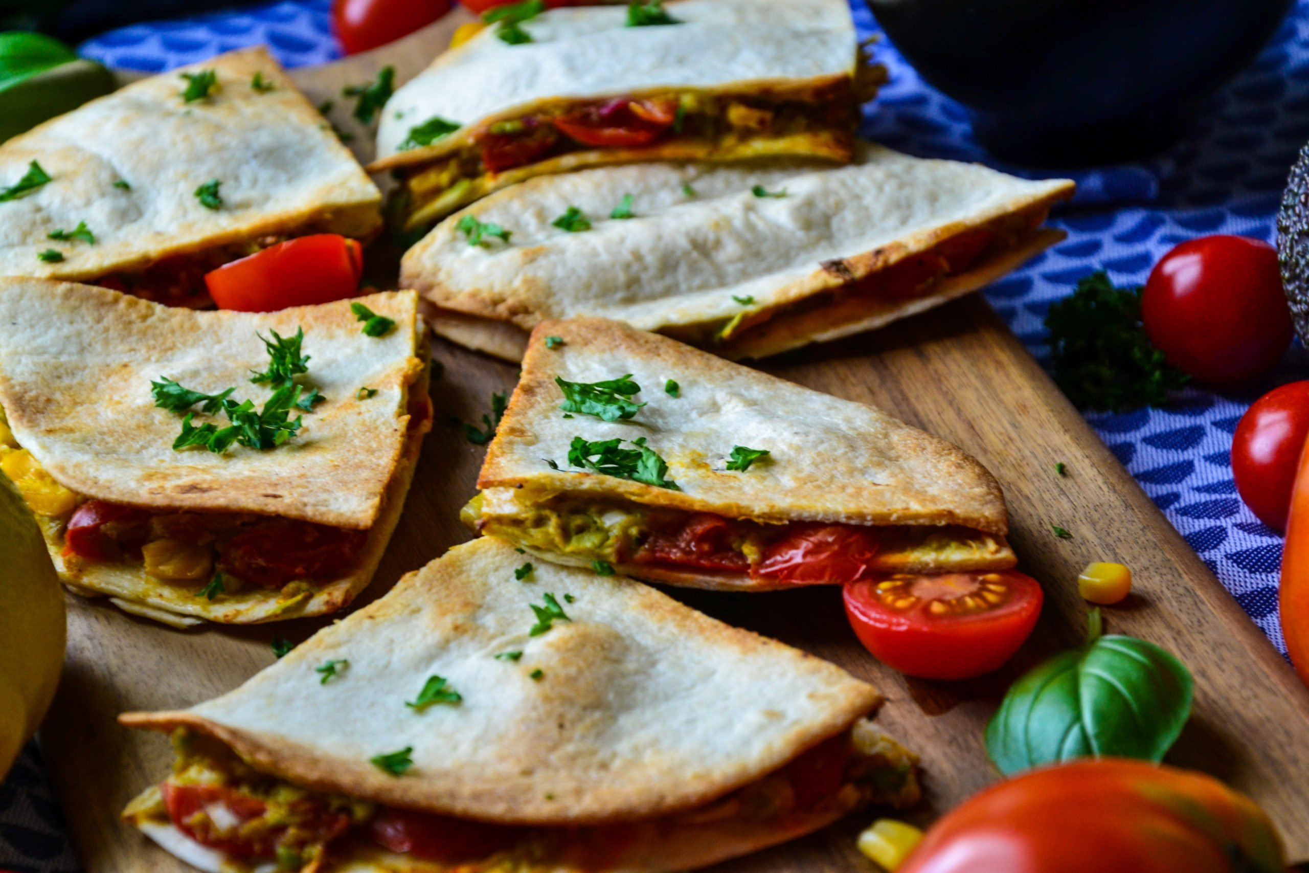 Quesadillas faciles au guacamole