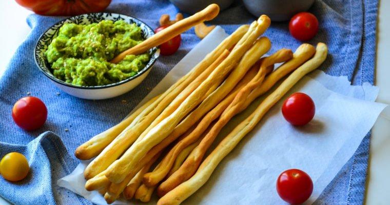 Gressins maison et guacamole