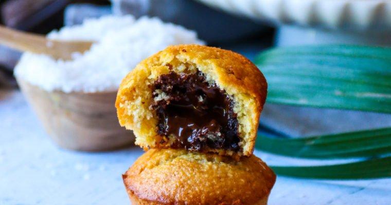 Mini muffins coco-choco sans sucre raffiné ni beurre