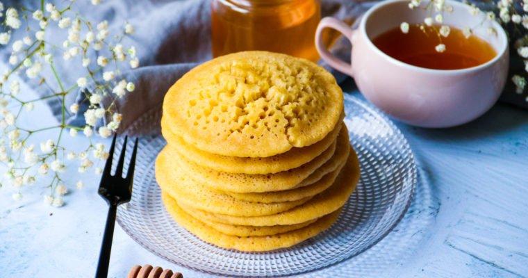 Crêpes mille trous à la semoule fine (baghrir) sans sucre raffiné