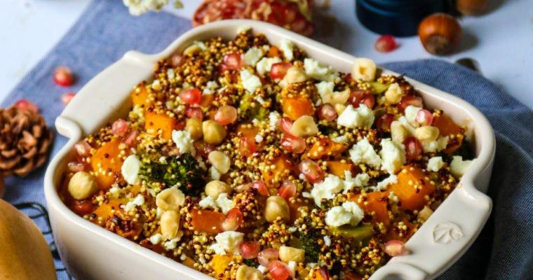 Gratin de quinoa, butternut, brocoli et feta