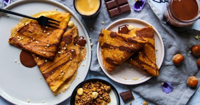 Crêpes zébrées vanille et cacao