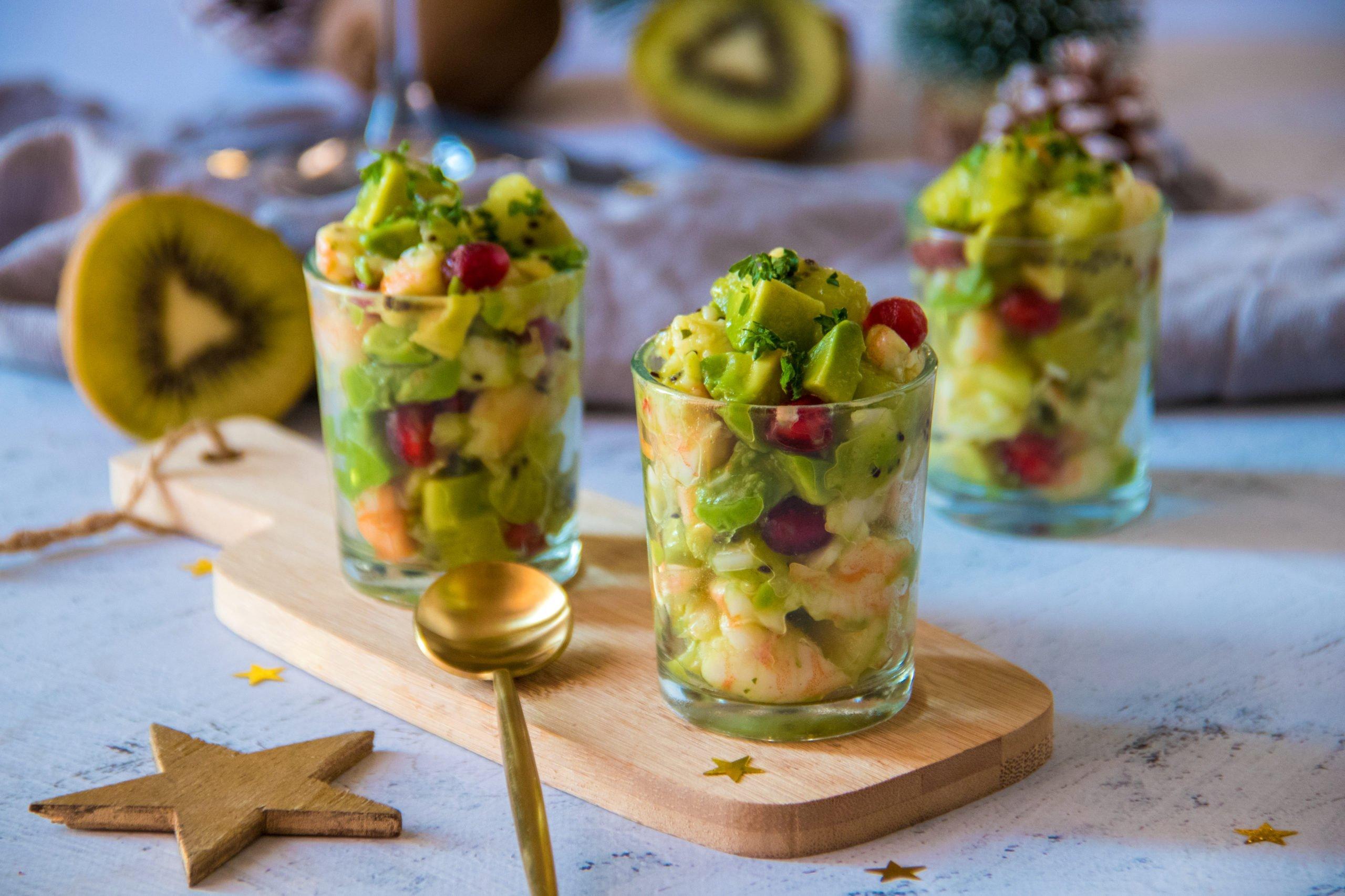 Verrines de Noël au kiwi de France