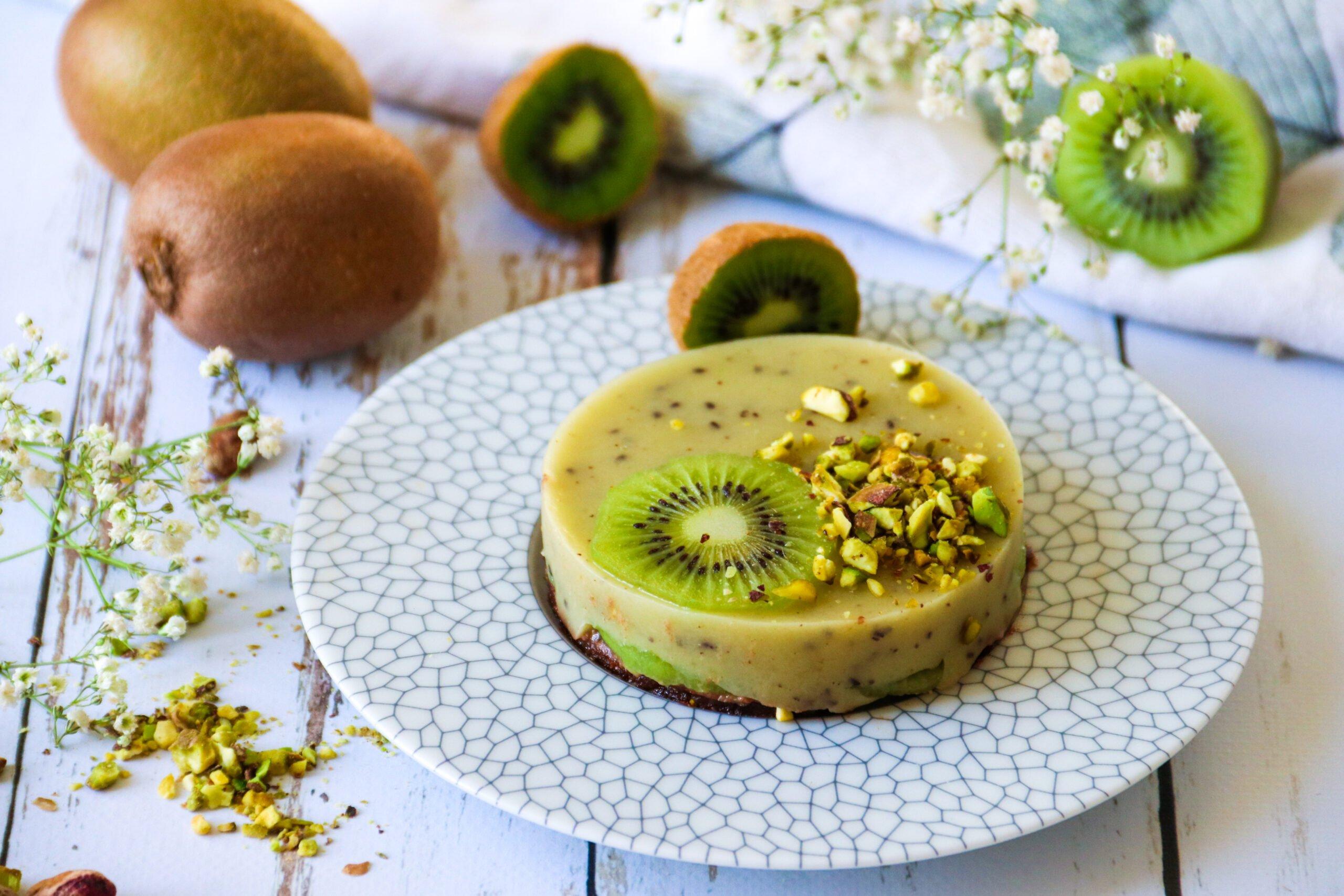 Tartelettes vegan aux kiwis de France et pistaches